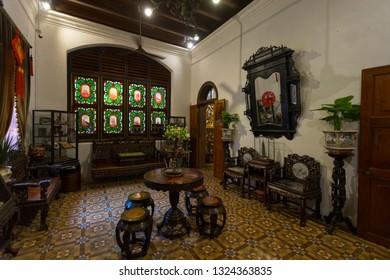 Penang, Malaysia - February 13,2019 : The interior of the Pinang Peranakan Mansion in Penang, Malaysia on February 13,2019. - Image