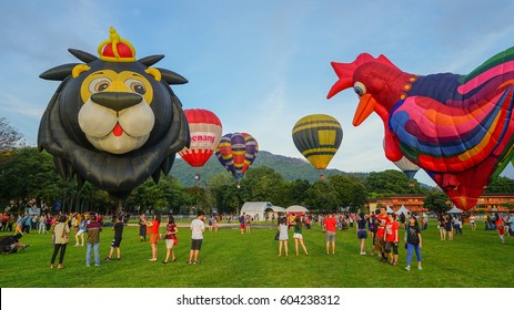 Penang, Malaysia - February 2nd 2017: Penang Hot Air Balloon Fiesta 2017 at Padang Polo, Penang.