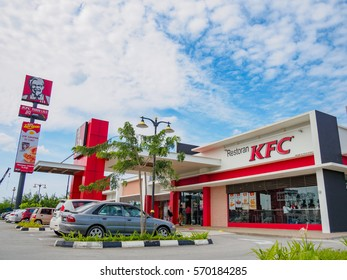 Penang, Malaysia - January 28, 2017: KFC fast food restaurant. Kentucky Fried Chicken (KFC) is the world's second largest restaurant chain with almost 20,000 locations globally.