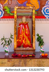 PENANG, MALAYSIA - JANUARY 3, 2015: Statue in the Goddess of Mercy Temple (also know as Kuan Yin Teng or Kong Hock Keong).