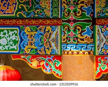 PENANG, MALAYSIA - JANUARY 3, 2015: Decorative elements in the Kek Lok Si Temple.
