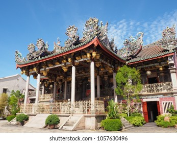Penang / Malaysia - July 8, 2016:  Chinese Temple with Chinese architecture style. This temple is belong to a wealthy family of Penang.
