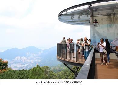 Penang, Malaysia - June 07, 2016: Penang Hill View