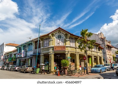Penang, Malaysia - June 22nd 2016 - The old town of Georgetown in Penang, northern of Malaysia, Asia.