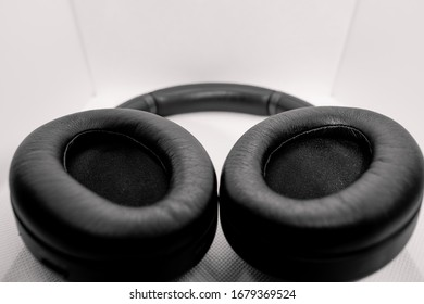 Penang, Malaysia - March 2020 : A pair of black Sony WH-1000XM3 Wireless Noise Cancelling Headphones.