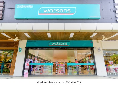 Penang, Malaysia - Nov 11, 2017: Watsons Personal Care Stores, known simply as Watsons, is the largest health care and beauty care chain store in Asia.