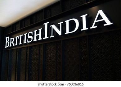 PENANG, MALAYSIA - NOVEMBER 14, 2017:  BritishIndia Fashion Store in shopping mall. BritishIndia is a homegrown lifestyle brand that currently has over 40 outlets across South East Asia.