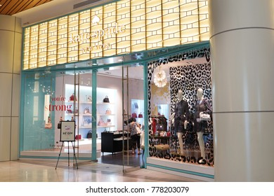PENANG, MALAYSIA - NOVEMBER 24, 2017 : Kate Spade fashion store in shopping mall. Kate Spade is an American fashion design house founded in 1993.