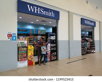 PENANG, MALAYSIA - Oct 8, 2018: A WH Smith newsagent store Oct 8, 2018, Penang, Malaysia. Created in 1828 it has 1,200 stores and is one of the UK's leading retail groups