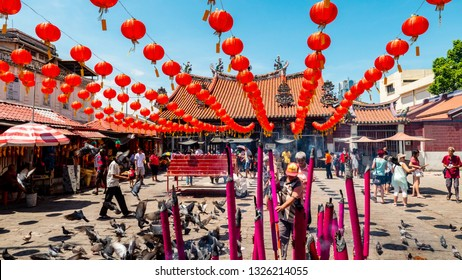 PENANG,MALAYSIA-Feb10,2019:Guan Ying Penang Temple ,Chinese people come to respect and wish their hope in Malaysia.