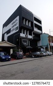 Penang,Malaysia-January 5th,2019:Time hotel is one of the unique hotel in Malaysia as it is the most compact hotel in Malaysia.Penang has a lot of tourist thus it need a lot of hotels around