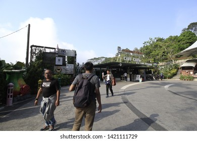 PENANG,MALAYSIA-MARCH 22 2019:People at Penang hill, Penang island of Malaysia. The Penang hill is one of famous attraction among local and foreign visitors that serve beautiful view of Penang island