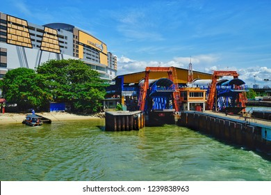 Penang,Malaysia-November 21st,2018:Penang Central building at the final preparation stafe before opening to the public.This building is located neaby the Penang ferry jetty terminal in Butterworth.