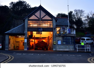 PENARTH FEB 22 2019.Penarth lifeboat station FEBRUARY 22 2019. Penarth in S WALES. RNLI lifeboat stion has Two inshore Boats.  B class Atlantic 85 and a D class boat.