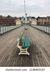Penarth pier with benches