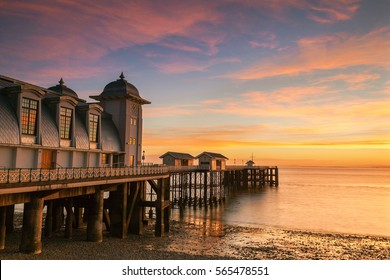Penarth Pier, Sunset, near Cardiff, Vale of Glamorgan, Wales, UK