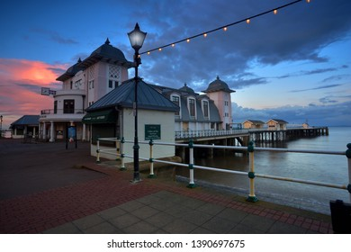 Penarth  S. Wales  Uk - April 2 Penarth Pier and Esplanade .  APRIL 2 2019. Penarth Pier and esplanade is a fully restored pavilion Cinema ,Gallery , live Music Locally sourced Food And Drink .