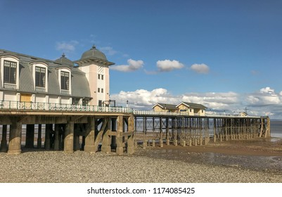 PENARTH, VALE OF GLAMORGAN - AUGUST 2018: The Victorian pavilion on the pier in Penarth, Wales.