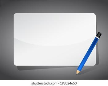 pencil and blank board illustration design background