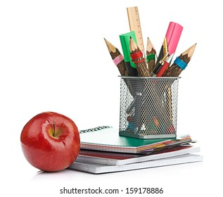 pencil box with school equipment