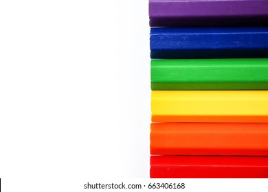 Pencil color collection on white background