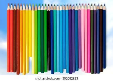Pencil, color, colorful.