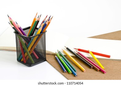 Pencil Color and Paper and Bin Holder