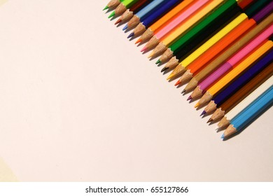 Pencil coloring used for coloring for preschoolers.