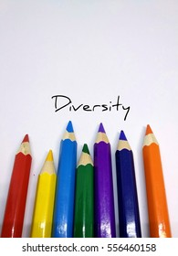 Pencil colours concept on diversity which comprises of different colours to indicate differences