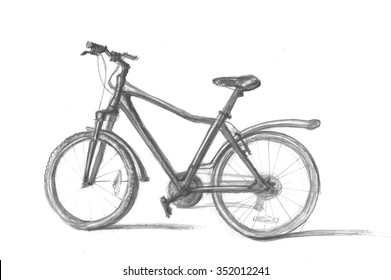 Pencil drawing of a bicycle