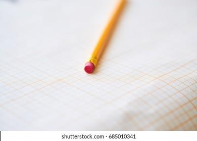 Pencil, drawing paper