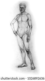 Pencil drawing, sketch, portrait
