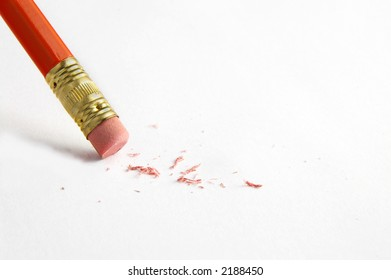 Pencil erasing a mistake
