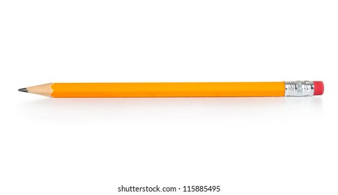 Pencil isolated on pure white background - Shutterstock ID 115885495