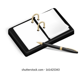 A pencil and a notebook.