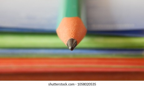Pencil on blurred colorful background
