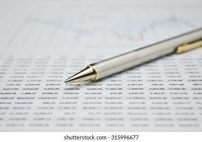 Pencil on business graph, financial and business concept