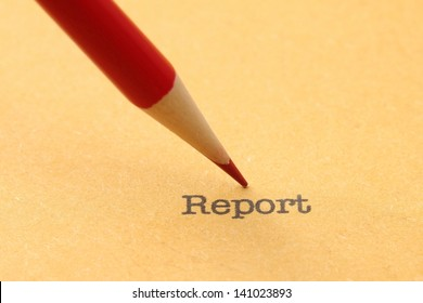 Pencil on report