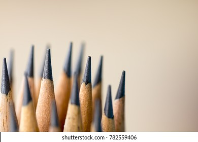 Pencil putting on table in morning light. Creative idea of work, writing, drawing, Business concept,Vintage ,Retro natural mood style. Soft tone made with gradient and filter color,Blurred focus.