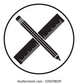 Pencil and ruler symbol
