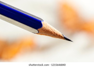 Pencil with a sharp black graphite point
