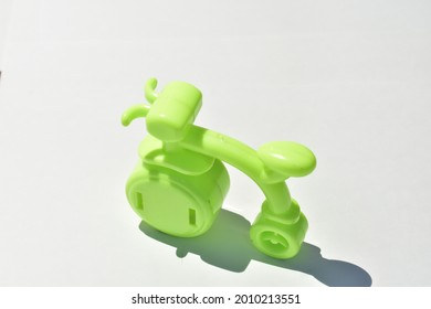 pencil sharpener in the shape of a bicycle on a white background