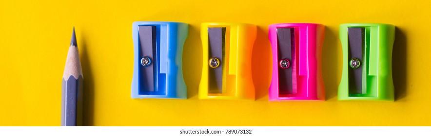 pencil sharpener,colored background