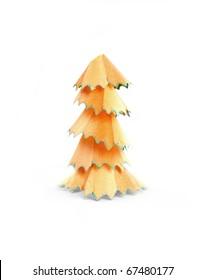 Pencil shaving tree