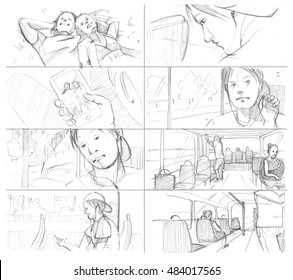 Pencil storyboards