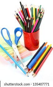 Pencils and brushes