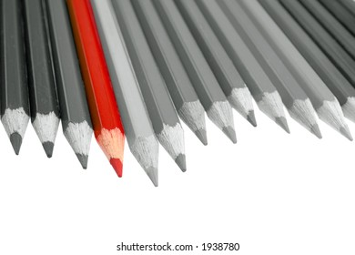 Pencils (b&w photo with color element)