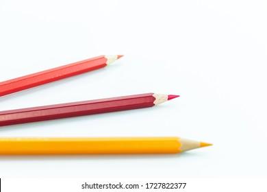 pencils color multicolor on white background.
