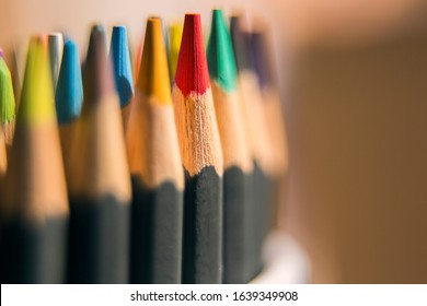 pencils colorful draw paint sketch art