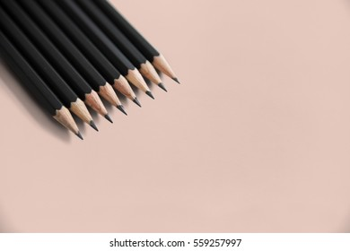 Pencils Lined Up Layer Isolated Background
